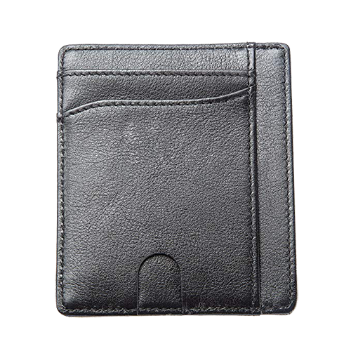 Premium Leather Front Pocket Credit Card Wallet w/RFID Blocking & Gift Box