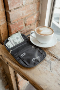 Neck Wallet with Coffee