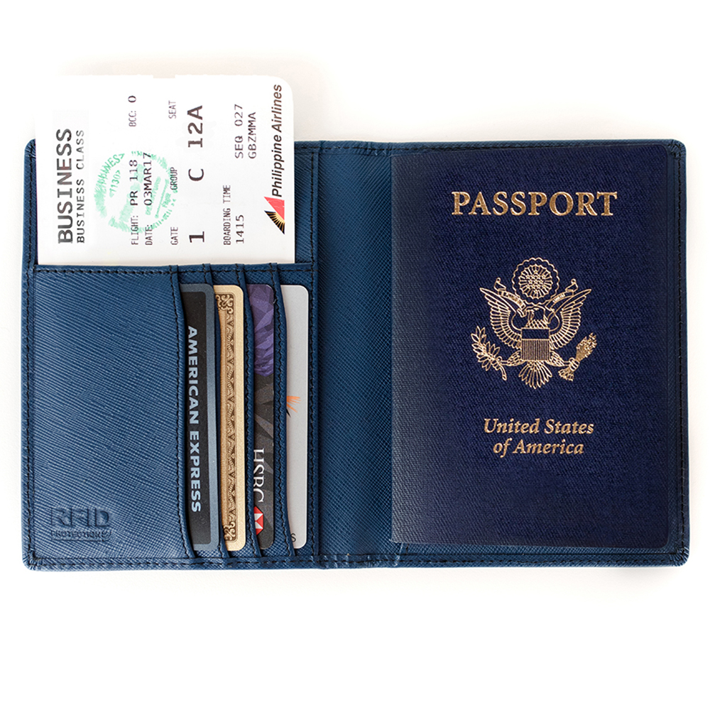 US Passport in Blue Passport Holder