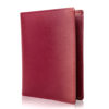 Passport Holder & Wallet, Genuine Leather, RFID Safe, with Gift Box - Red