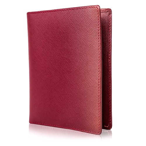 Passport Holder & Wallet, Genuine Leather, RFID Safe, with Gift Box